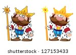 illustration of a smiling king | Shutterstock .eps vector #127153433