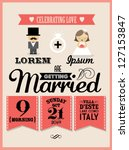 wedding invitation card... | Shutterstock .eps vector #127153847