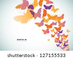 Abstract Butterfly Background...