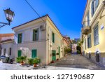 traditional houses in plaka...   Shutterstock . vector #127190687
