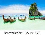 Longtale Boats At The Phuket...