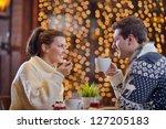 romantic evening date in... | Shutterstock . vector #127205183