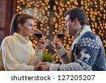 romantic evening date in...   Shutterstock . vector #127205207