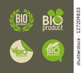 bio product   vector labels and ... | Shutterstock .eps vector #127209833