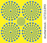 the optical illusion of... | Shutterstock .eps vector #127211393