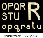 diamond alphabet on black  set...   Shutterstock . vector #127220057