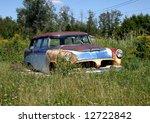 Old Rusty Station Wagon Rustin...