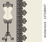 antique corset with lacing | Shutterstock .eps vector #127238447