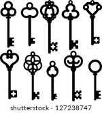 Vector Illustration Antique Skeleton Keys
