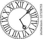 antique clock face | Shutterstock .eps vector #127238753