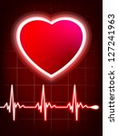 abstract heart beats cardiogram....   Shutterstock .eps vector #127241963