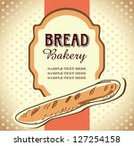 bakery label - stock vector