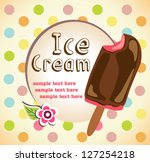 ice cream background - stock vector