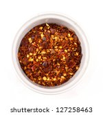Dried Chilli Flakes Isolated O...