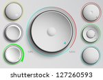 vector set of buttons  volume...