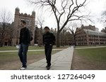 NEW HAVEN - APRIL 9: On the campus of Yale University in New Haven, Connecticut, on Friday, April 9, 2009. - stock photo