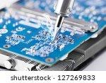 fixing microcircuit with... | Shutterstock . vector #127269833