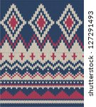 seamless knitted wool pattern... | Shutterstock .eps vector #127291493