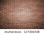 brown brick wall - stock photo