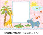 baby frame or card. raster...   Shutterstock . vector #127313477