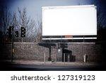 large blank billboard | Shutterstock . vector #127319123