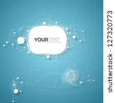 Abstract text bubble vector background