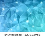 Abstract blue crystal background. - stock vector