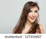 hair style fashion woman face... | Shutterstock . vector #127324607