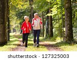 senior couple doing sport... | Shutterstock . vector #127325003