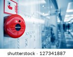 fire alarm on the wall of... | Shutterstock . vector #127341887