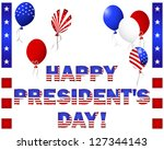 president's day. beautiful text ... | Shutterstock . vector #127344143