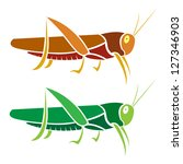 Vector Image Of An Grasshopper...