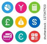 color circular finance icons...   Shutterstock .eps vector #127347923