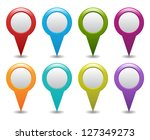 set of map pointers | Shutterstock .eps vector #127349273