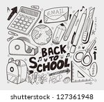 School - doodles collection - stock vector