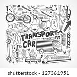 doodle transport element - stock vector