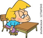 a vector illustration of bored... | Shutterstock .eps vector #127369343