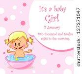 vector illustration of baby... | Shutterstock .eps vector #127371047