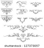 vector calligraphic design... | Shutterstock .eps vector #127373057