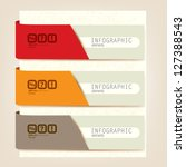 set of infographic elements. ... | Shutterstock .eps vector #127388543