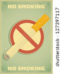 retro poster   the sign no... | Shutterstock .eps vector #127397117