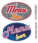 set of a sign saying menu | Shutterstock .eps vector #127400087