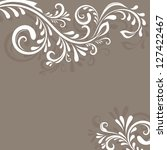 beige vector background with... | Shutterstock .eps vector #127422467
