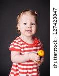 portrait of happy smiling... | Shutterstock . vector #127423847