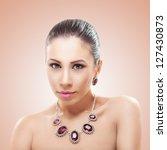 portrait of beautiful woman...   Shutterstock . vector #127430873