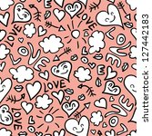 seamless pattern with cute... | Shutterstock .eps vector #127442183