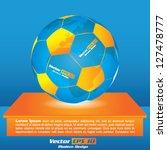 vector modern football brochure ... | Shutterstock .eps vector #127478777