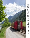 swiss mountain train bernina