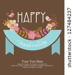 happy mothers day card design.... | Shutterstock .eps vector #127484237