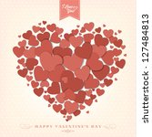 happy valentine's day... | Shutterstock .eps vector #127484813